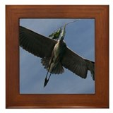 Blue heron Framed Tiles