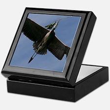 Great Blue Heron In Flight Keepsake Box