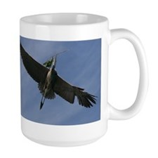 Great Blue Heron In Flight Mugs
