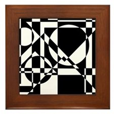 Triangles And Circles Design #4/ Framed Tile
