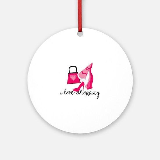 I Love Shopping Ornament (Round)