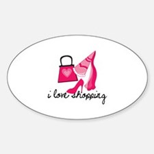 I Love Shopping Decal