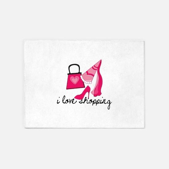 I Love Shopping 5'x7'Area Rug