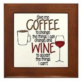 Coffee wine Framed Tiles