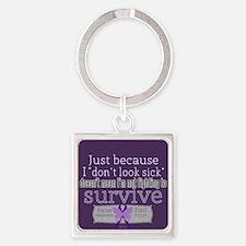 Fighting 2 Survive Lupus Keychains