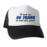 80th birthday Trucker Hats