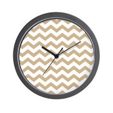 Light Brown Chevrons Wall Clock