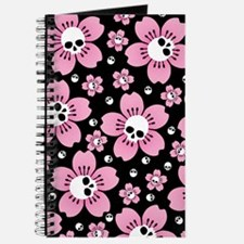 Skull Pink Blossoms Journal