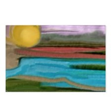 Abstract Sierra Sunrise  Postcards (Package of 8)