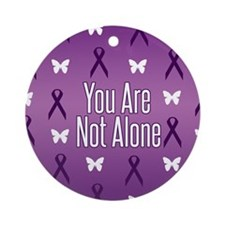 Not Alone Lupus Ornament (Round)