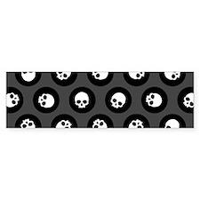 Skull Polkadots Bumper Bumper Sticker