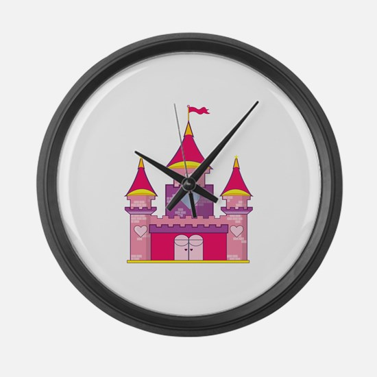 Princess Castle Large Wall Clock