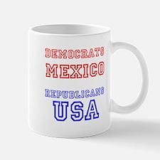 Democrats Mexico Republicans USA Mugs
