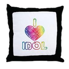 I Heart Idol Throw Pillow