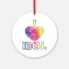 I Heart Idol Ornament (Round)