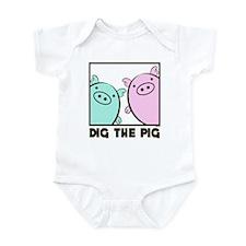 DIG THE PIG 1 Infant Bodysuit