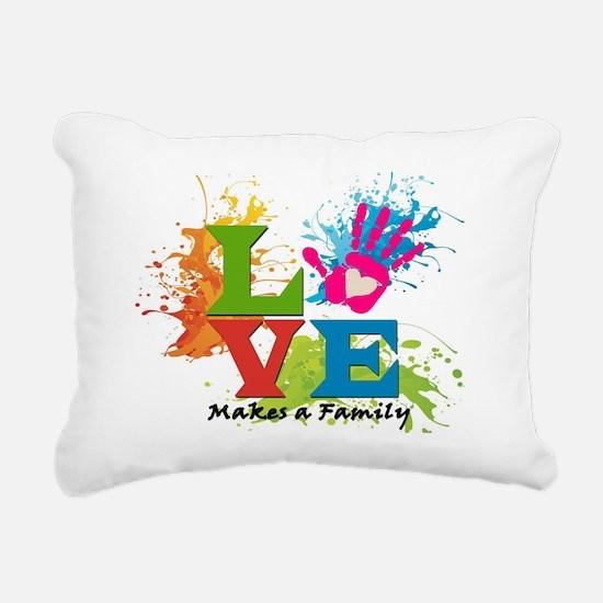 Love Rectangular Canvas Pillow