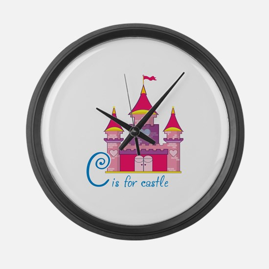 C is for Castle Large Wall Clock