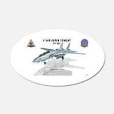 F-14D VF-124 with reflection Wall Decal