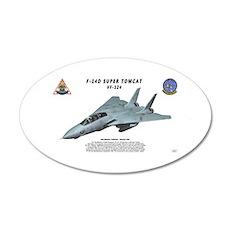 F-14D VF-124 in flight Wall Decal