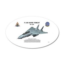 F-14D VF-124 in flight Wall Decal