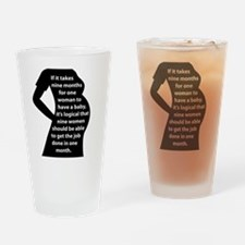 Preggers Drinking Glass