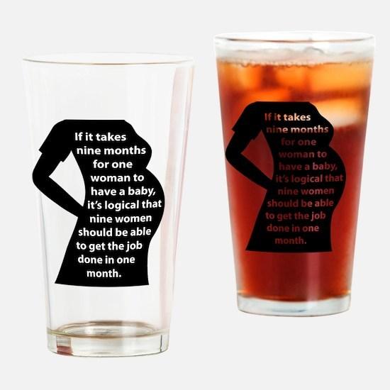 Preggers Drinking Glass