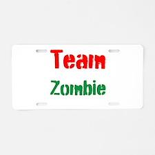 Team Zombie Aluminum License Plate