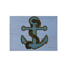 nautical deck vintage anchor 5'x7'Area Rug