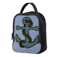 nautical deck vintage anchor Neoprene Lunch Bag