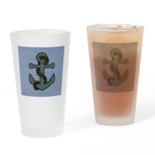 nautical deck vintage anchor Drinking Glass