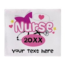 Personalized Nurse Graduation Throw Blanket