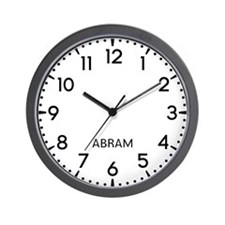 Abram Newsroom Wall Clock
