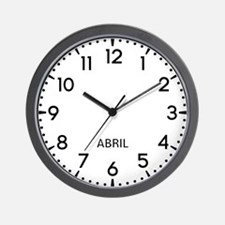 Abril Newsroom Wall Clock