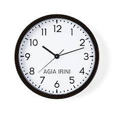 Agia Irini Newsroom Wall Clock