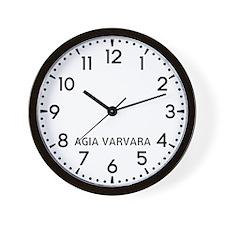 Agia Varvara Newsroom Wall Clock