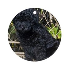 Poodle Round Ornament