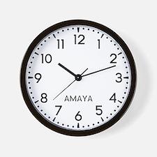 Amaya Newsroom Wall Clock