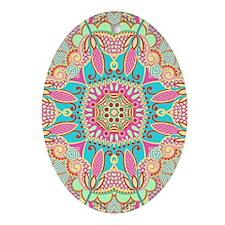 Retro Pattern Ornament (Oval)