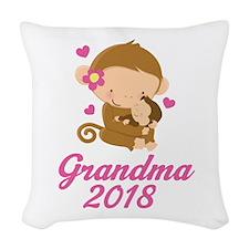 Grandma 2014 Woven Throw Pillow