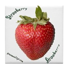 Strawberry Squared Tile Coaster