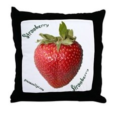 Strawberry Squared Throw Pillow