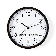 Angelus Oaks Newsroom Wall Clock