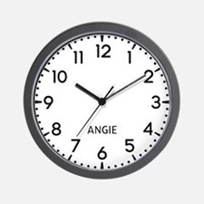 Angie Newsroom Wall Clock