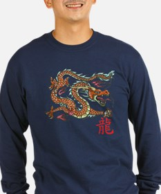 Chinese Dragon NEW red Long Sleeve T-Shirt