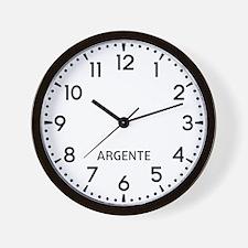 Argente Newsroom Wall Clock