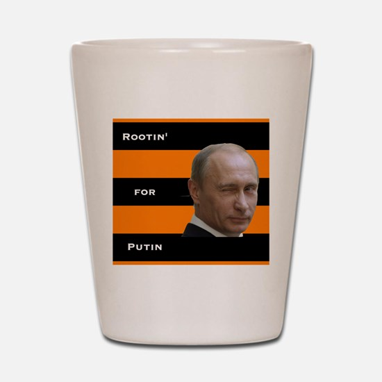 Rootin For Putin (square) Shot Glass