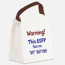 ESFP Warning Canvas Lunch Bag