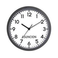 Asuncion Newsroom Wall Clock