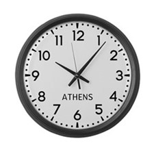 Athens Newsroom Large Wall Clock